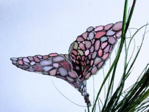 Glass flower pink